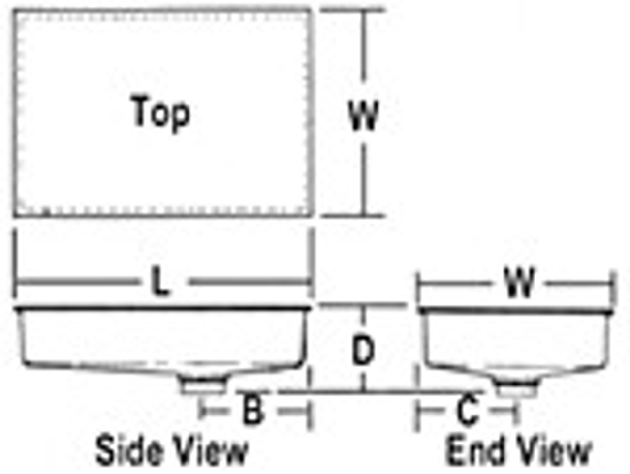 ABS HOLDING TANK BOTTOM DRAIN - 6 GALLON (11-1056)