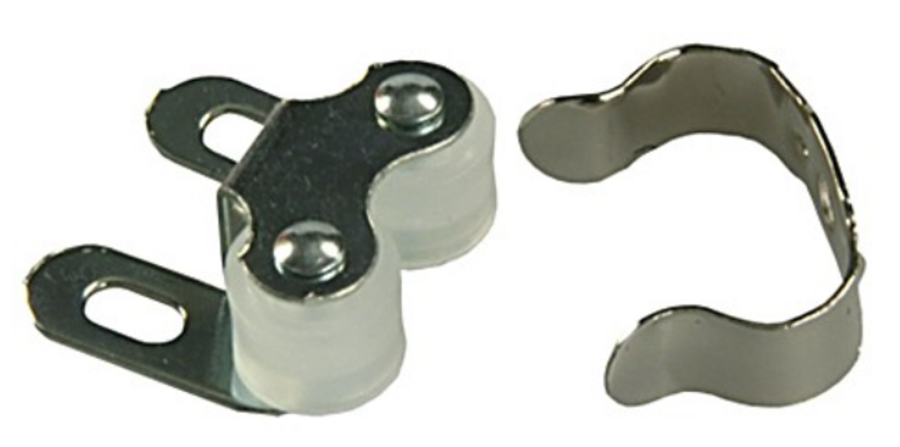 DOUBLE ROLLER CATCH with CLIP (20-1145)