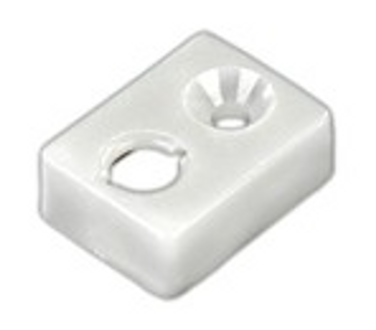 CURTAIN TRACK END STOP TYPE E - WHITE (20-1131)