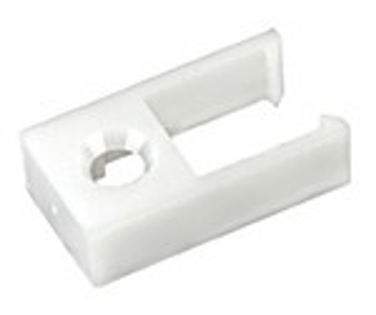 CURTAIN TRACK END STOP- TYPE D - WHITE (20-1129)