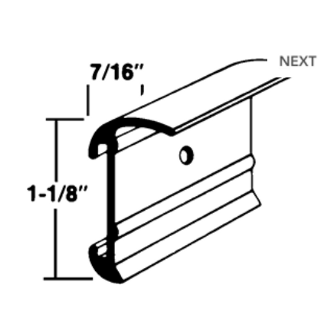 CORNER TRIM ALUMINUM with INSERT TRIM TRACK - 14' (20-1096)