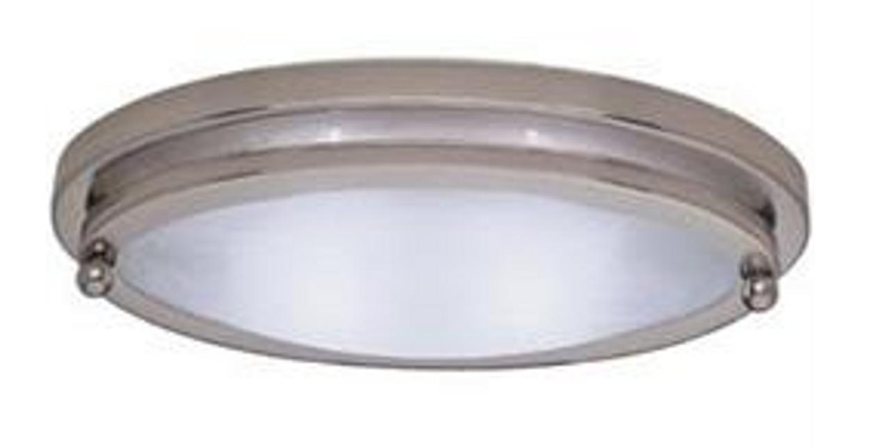 LOW PROFILE OVAL LIGHT - SATIN NICKEL (18-2007)