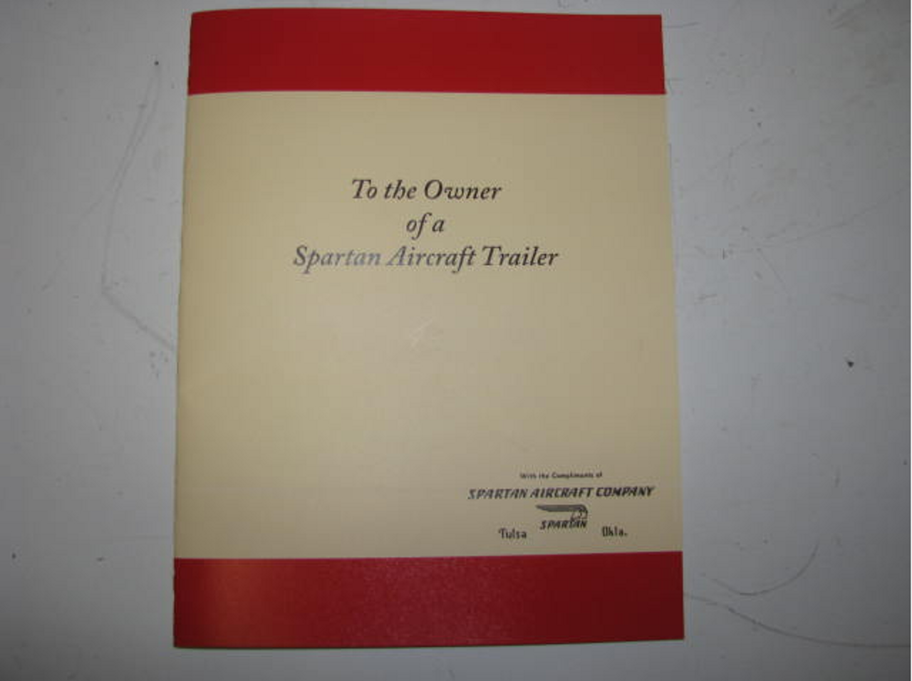 Spartan Owners Manual (BL018) FRONT COVER