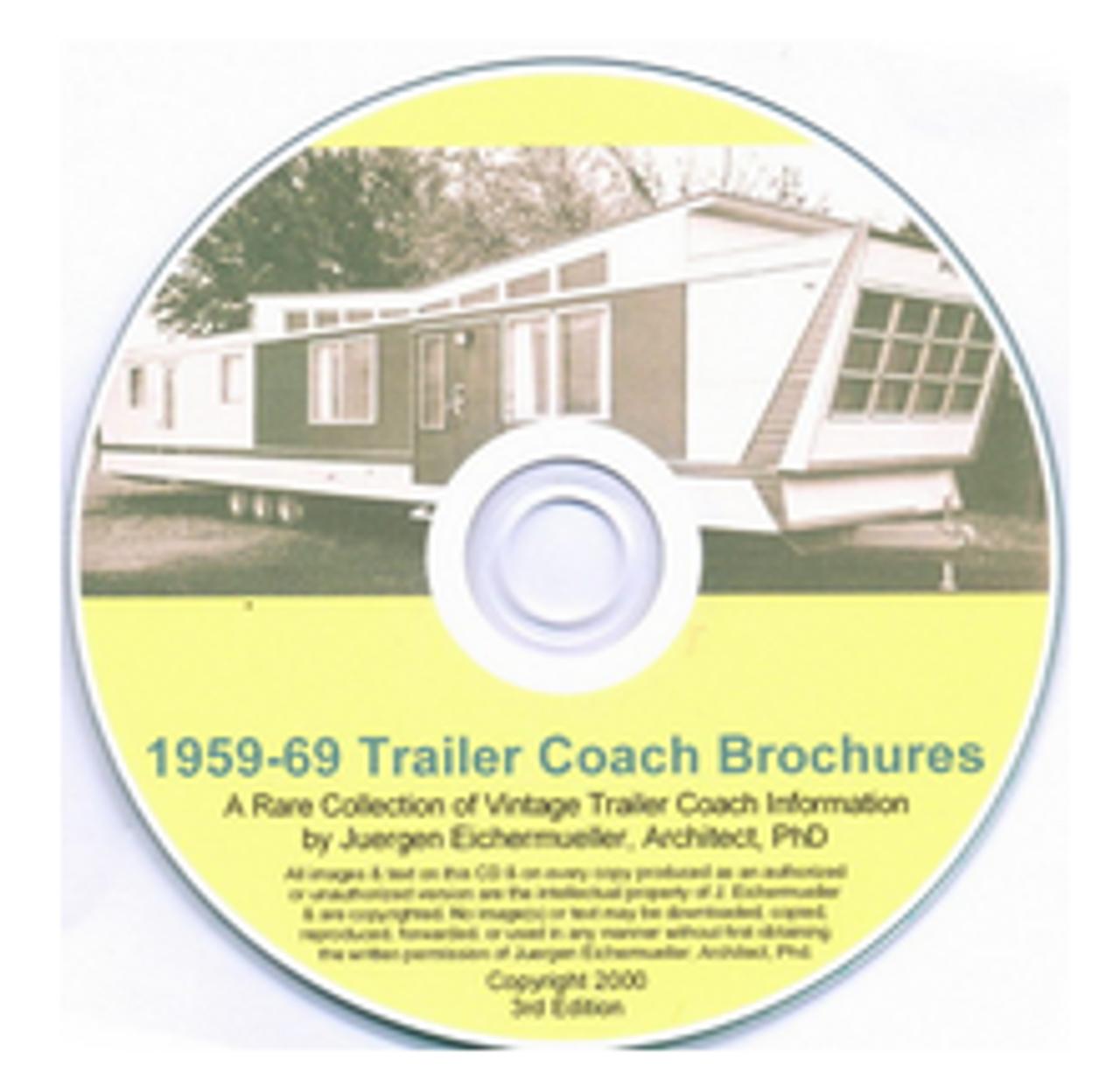 CD-ROM 1959-1969 Trailer Coach Brochures (CBL012)