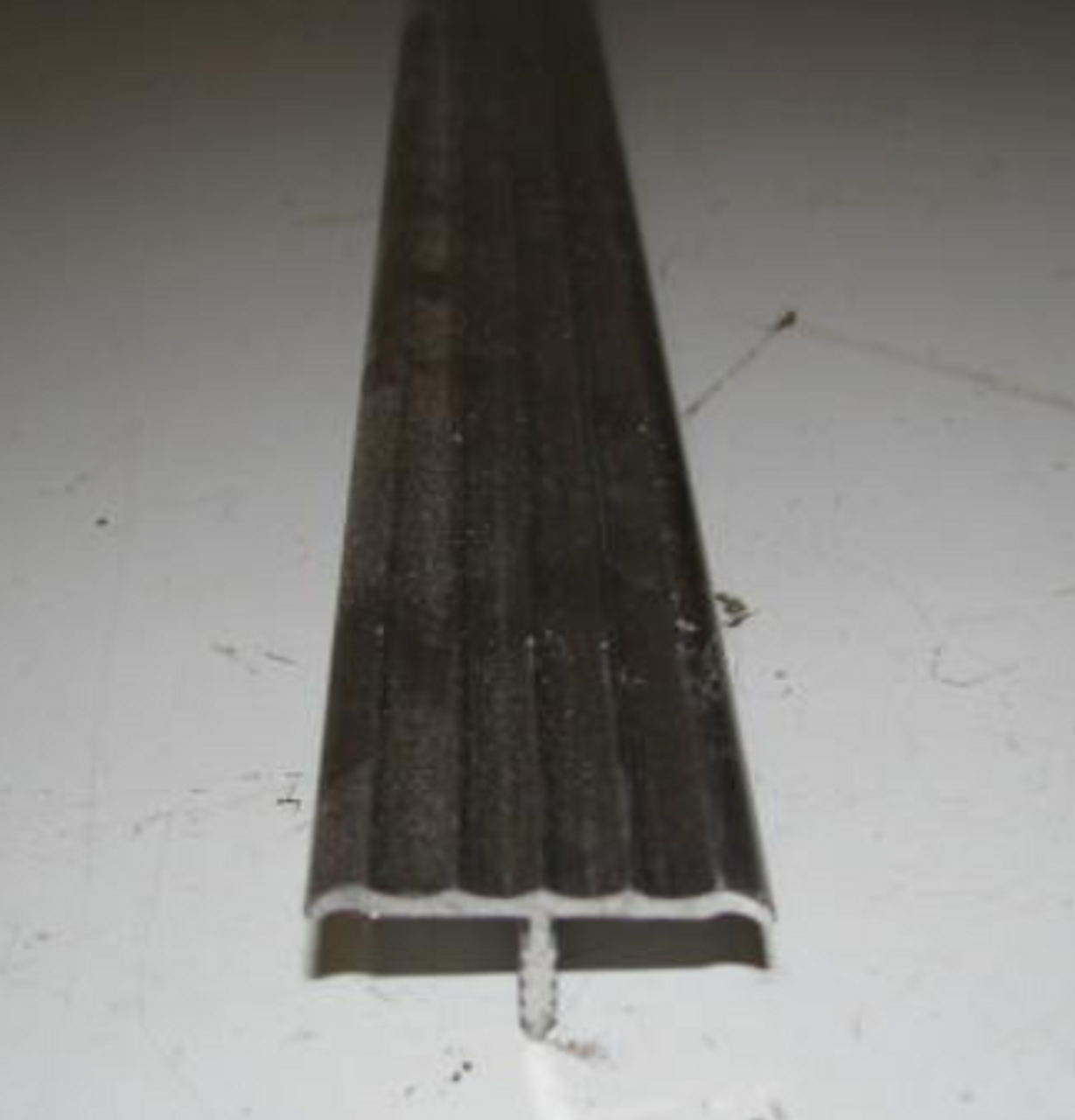 """1-1/4"""" Aluminum Fluted Countertop or Table Trim 6' (CHW061)"""