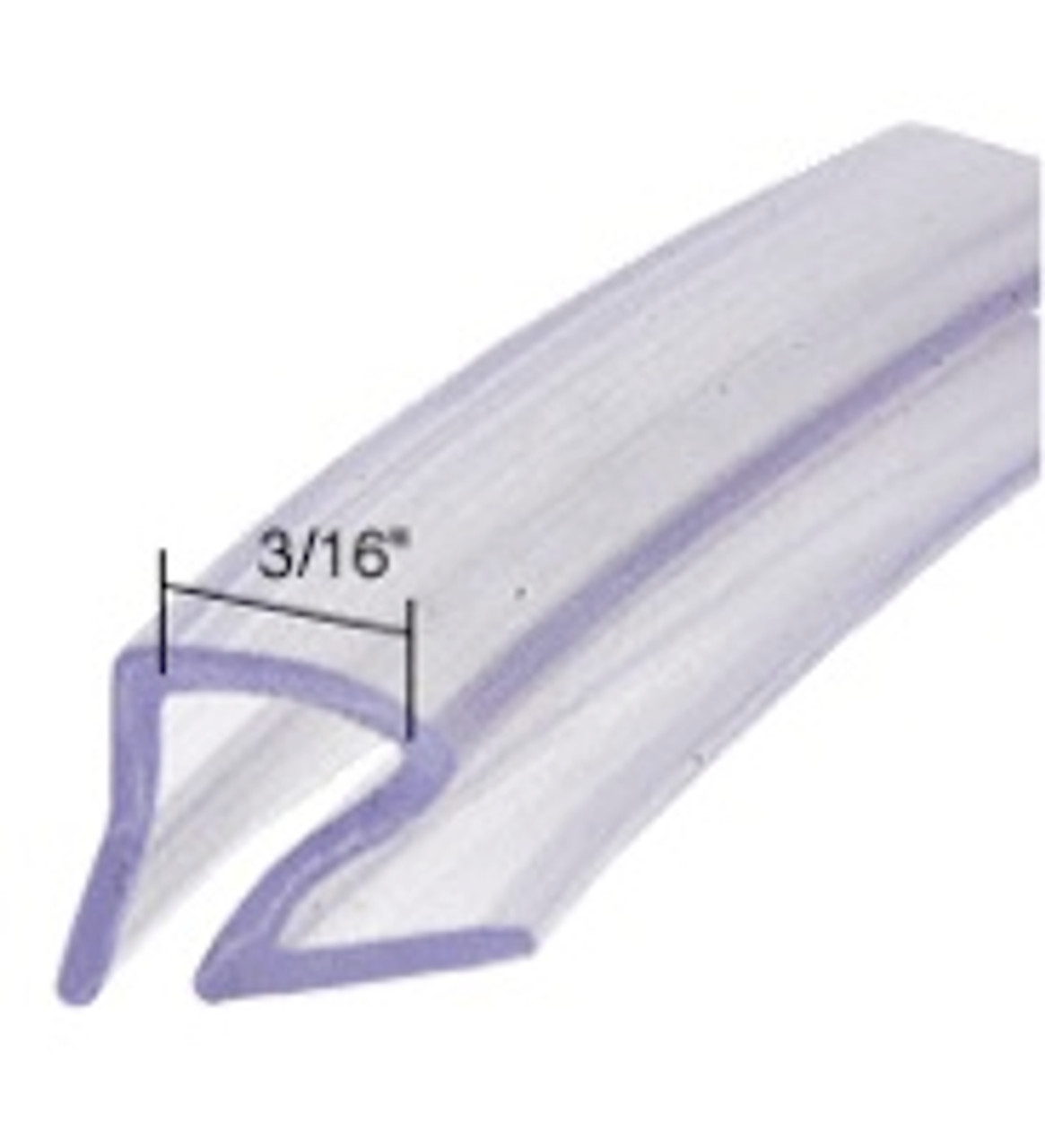 Clear Jalousie Window Vinyl Seal (CHW065)