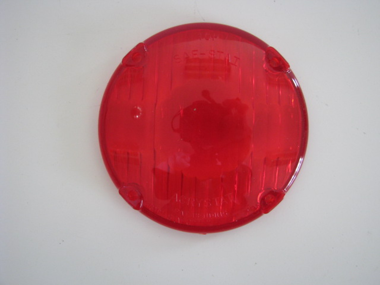 3-15/16 Inch Round Tail Light Lens - Red (CLT043)