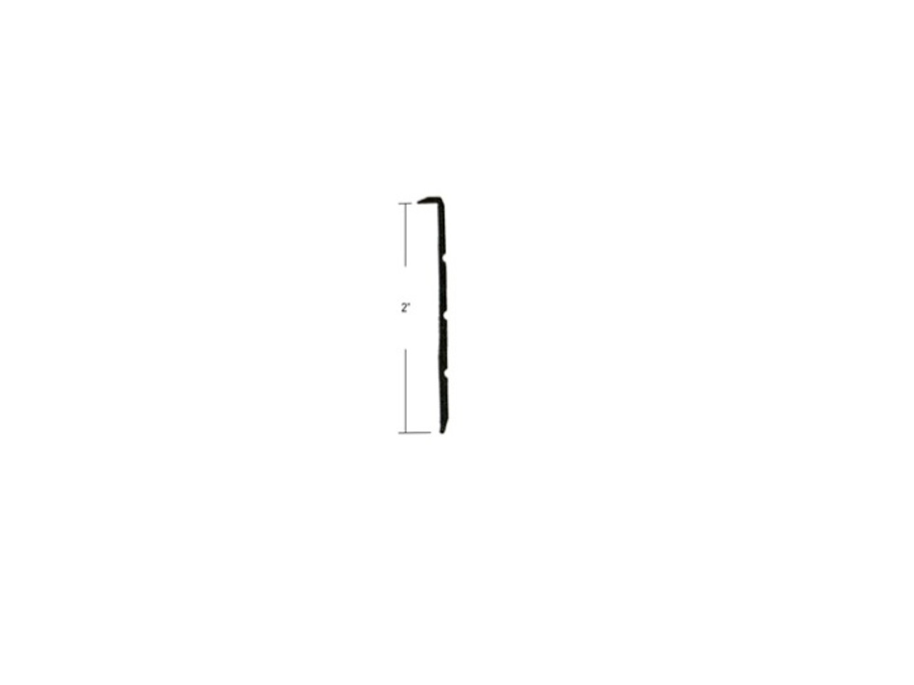 """2"""" Grooved Face Trim 12' (CHW088)"""