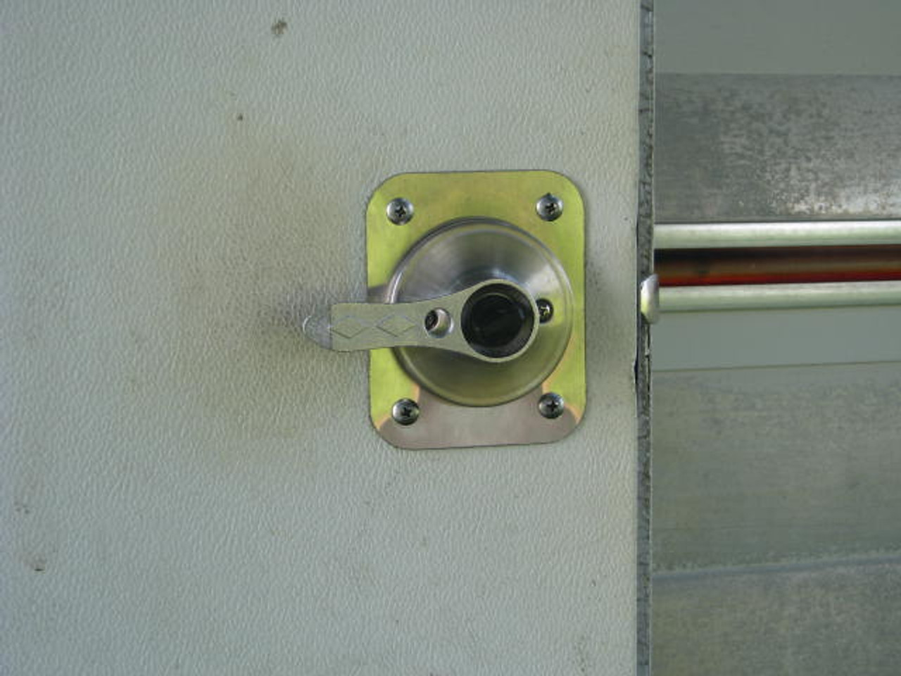 Bargman L-100, L-200 Retrofit Lock Kit (CHW106)  Inside installed