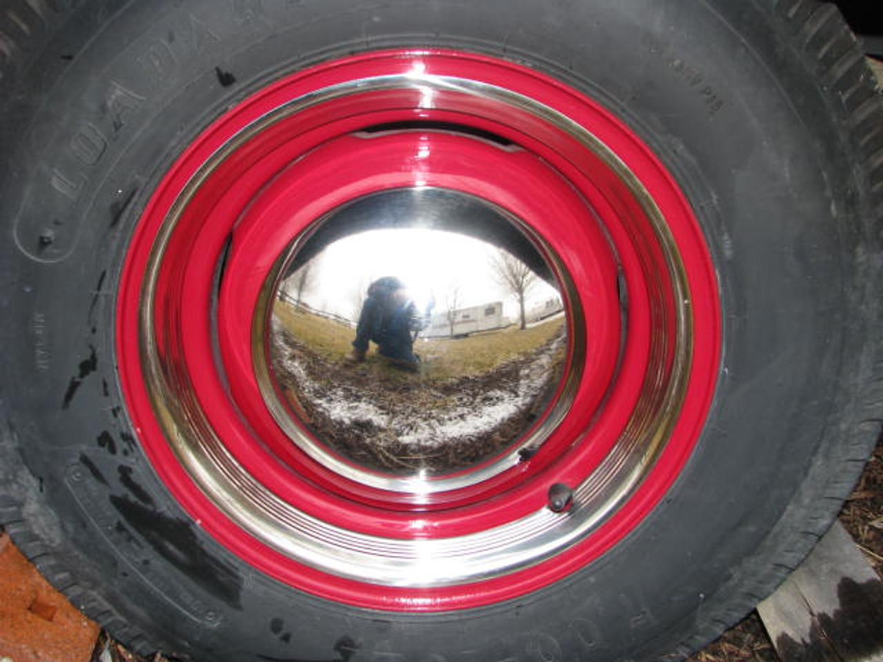 """15"""" Stainless Steel Beauty Ring (CCH014) PICTURED INSTALLED ON RIM/TIRE **NOT INCLUDED**"""