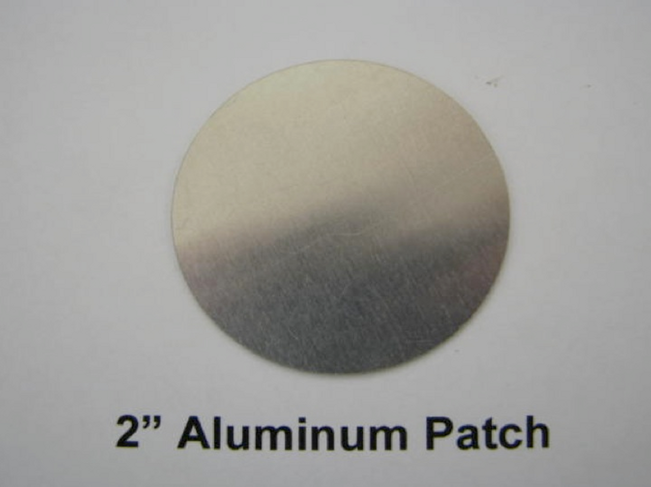 """2"""" Aluminum Round Patch with Adhesive -(CBP038) FRONT OVERHEAD VIEW"""