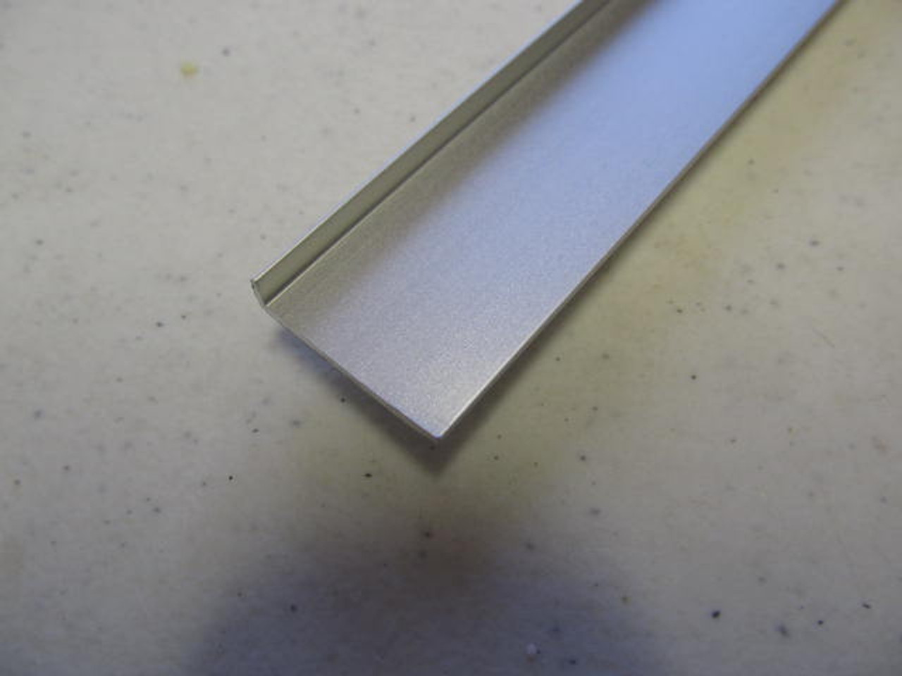 """7/8"""" Smooth Countertop or Table Trim- 12' Satin (CHW128)"""