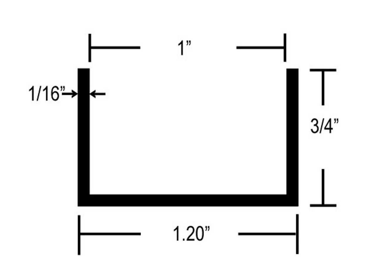 Aluminum U-Channel (CHW142) DIMENSIONS