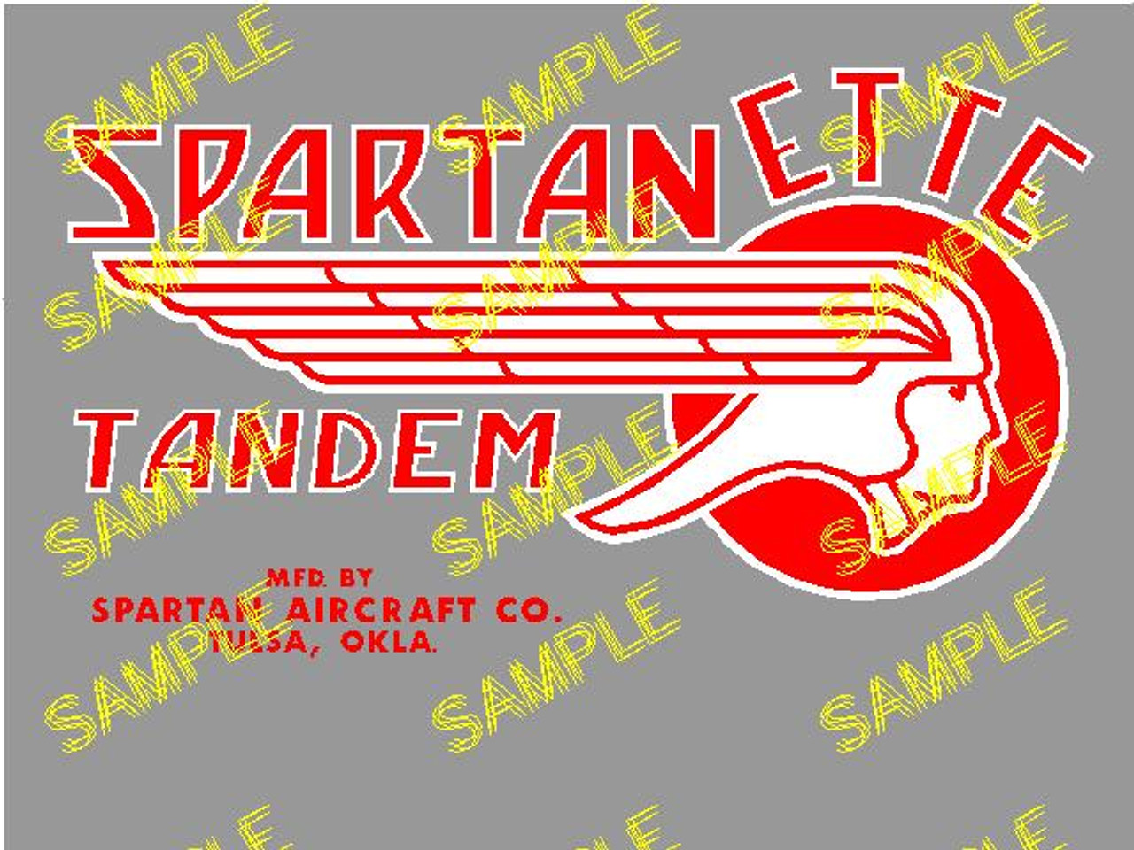 Spartanette Tandem Decal (CHW114)