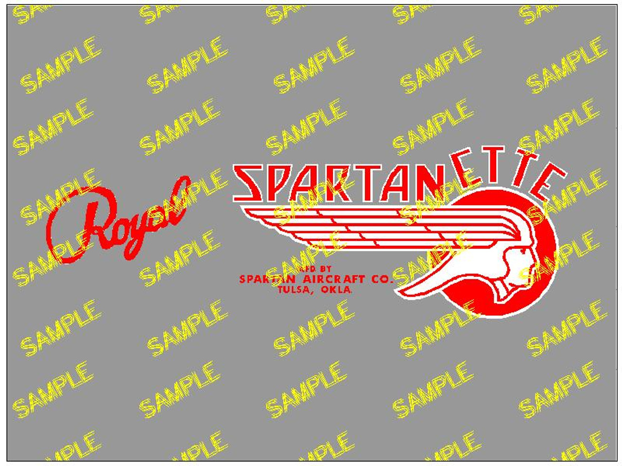 Royal Spartanette Decal (CHW115)