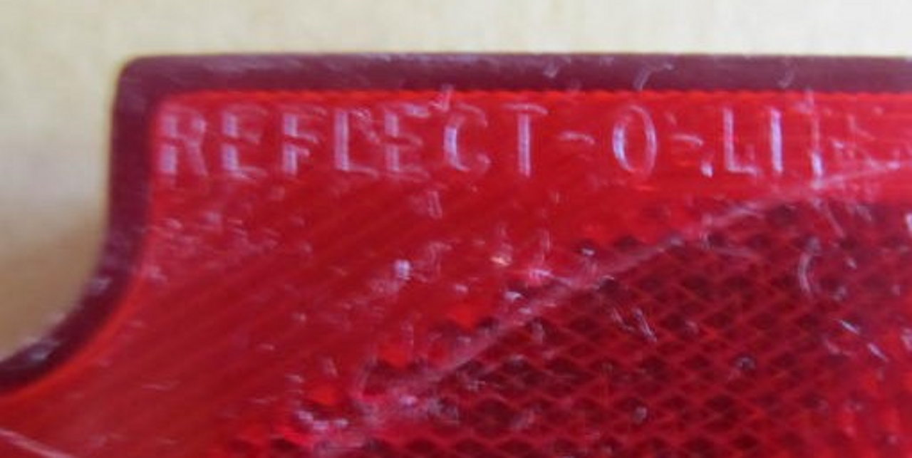 Reflect-O-Lite Square with License Light (Lens Only) (zoomed)