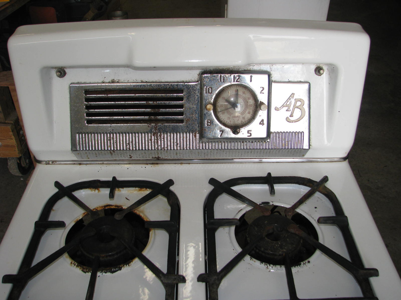 "AB Brand LP Gas 20"" Stove from 1950 Spartan"