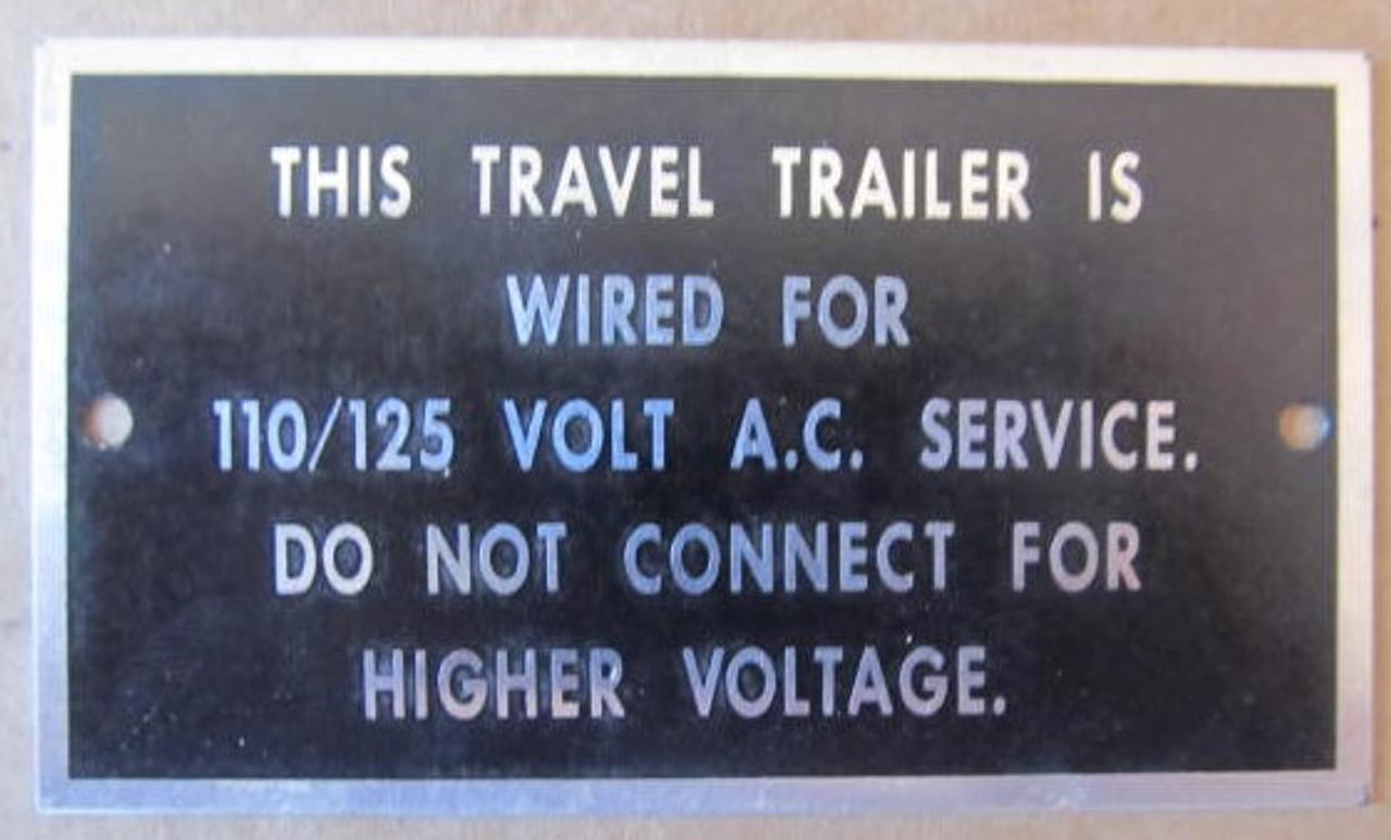 Aluminum Voltage Tag (HW371)