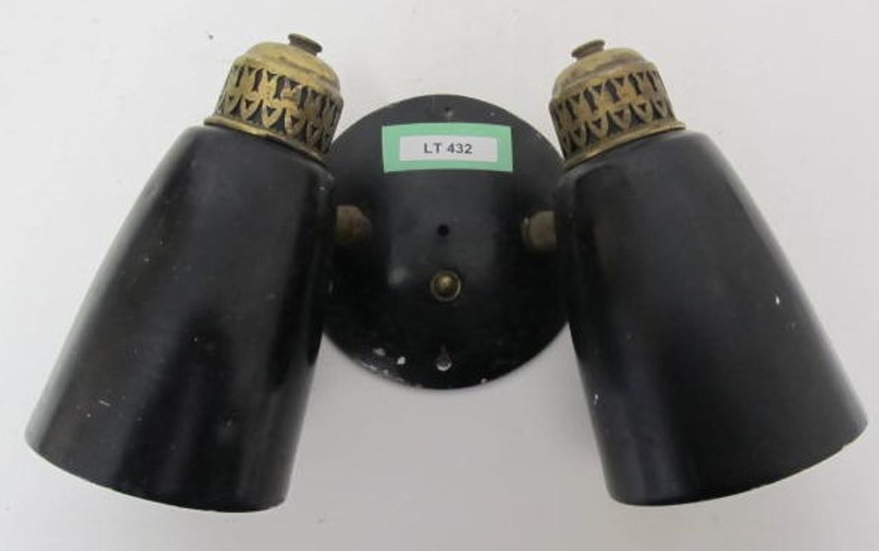 Aluminum (Black Coated) Double Wall Sconce (LT432)