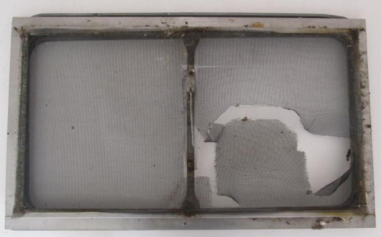 "33-1/8"" x 19-3/4"" Aluminum Window Frame (w/o glass & broken window lever) (BP363)33-1/8"" x 19-3/4"" Aluminum Window Frame (w/o glass & broken window lever) (BP363)"