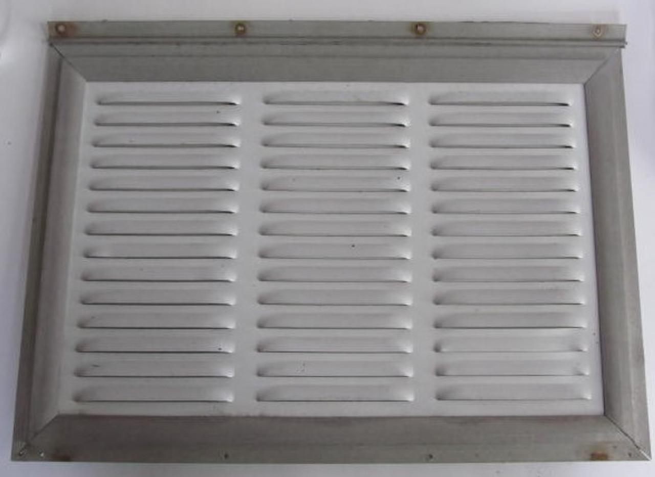 "19-3/4"" x 14"" Aluminum Refrigerator Vent Door w/ Hinge (BP367)"
