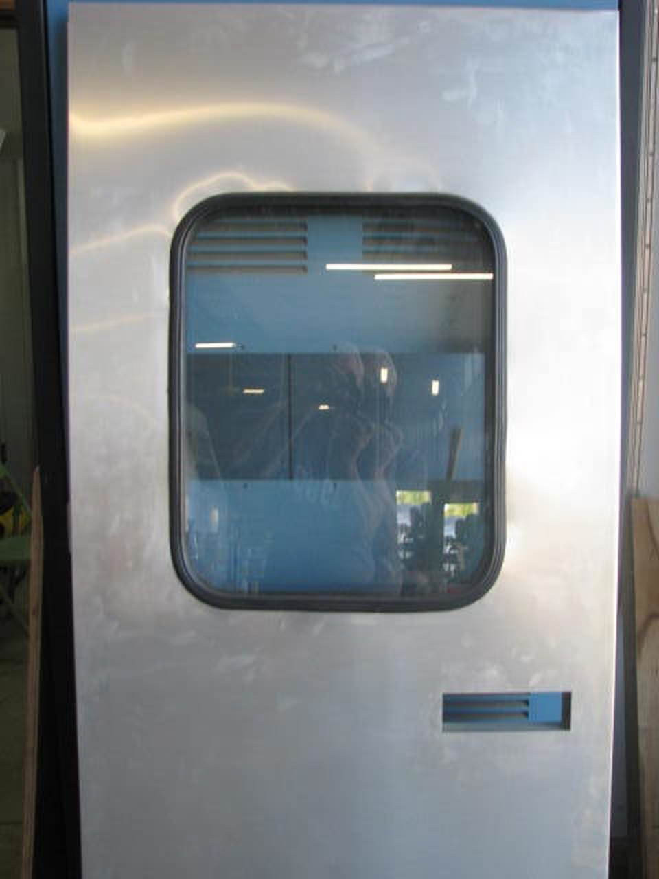 """28""""x 73"""" Spartan LH Aluminum Entry Door w/ Rectangle Window (1955-1958)"""