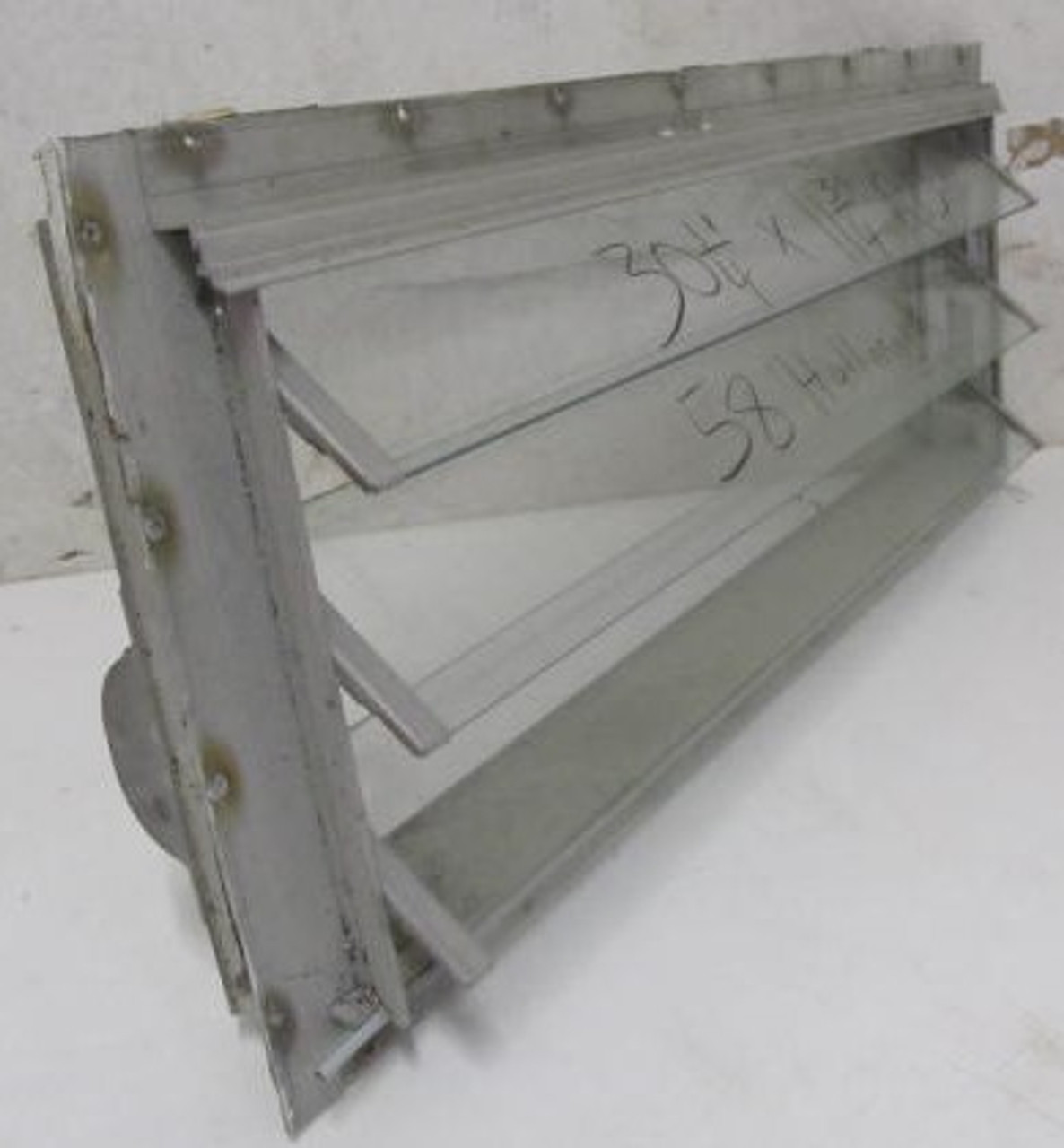"31-13/16"" x 13-5/16"" 3 Pane Jalousie Window (missing screen) (BP369)"