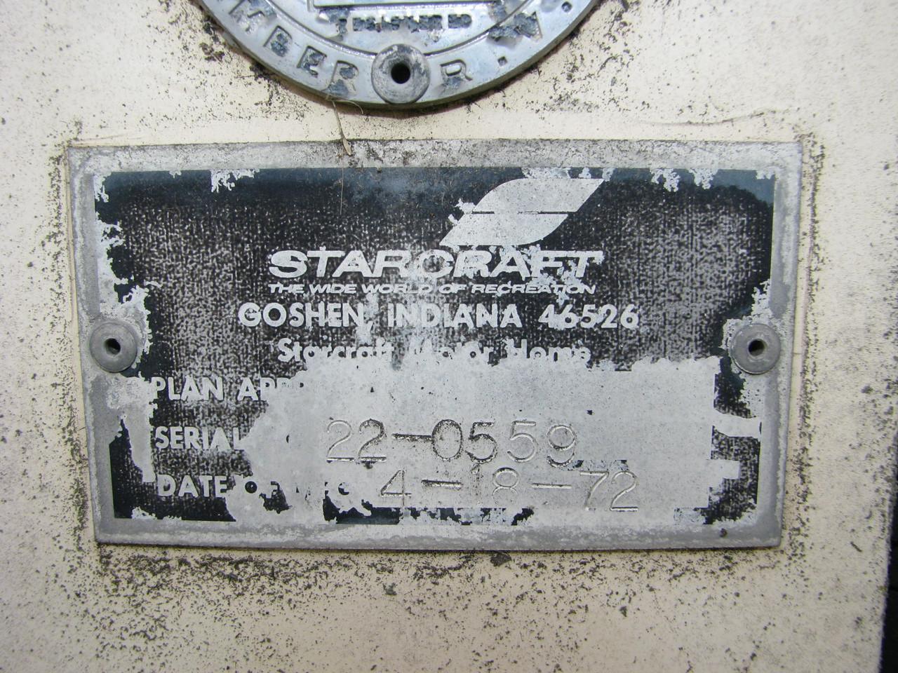 1972 Starcraft 22' Starcruiser Motor Home
