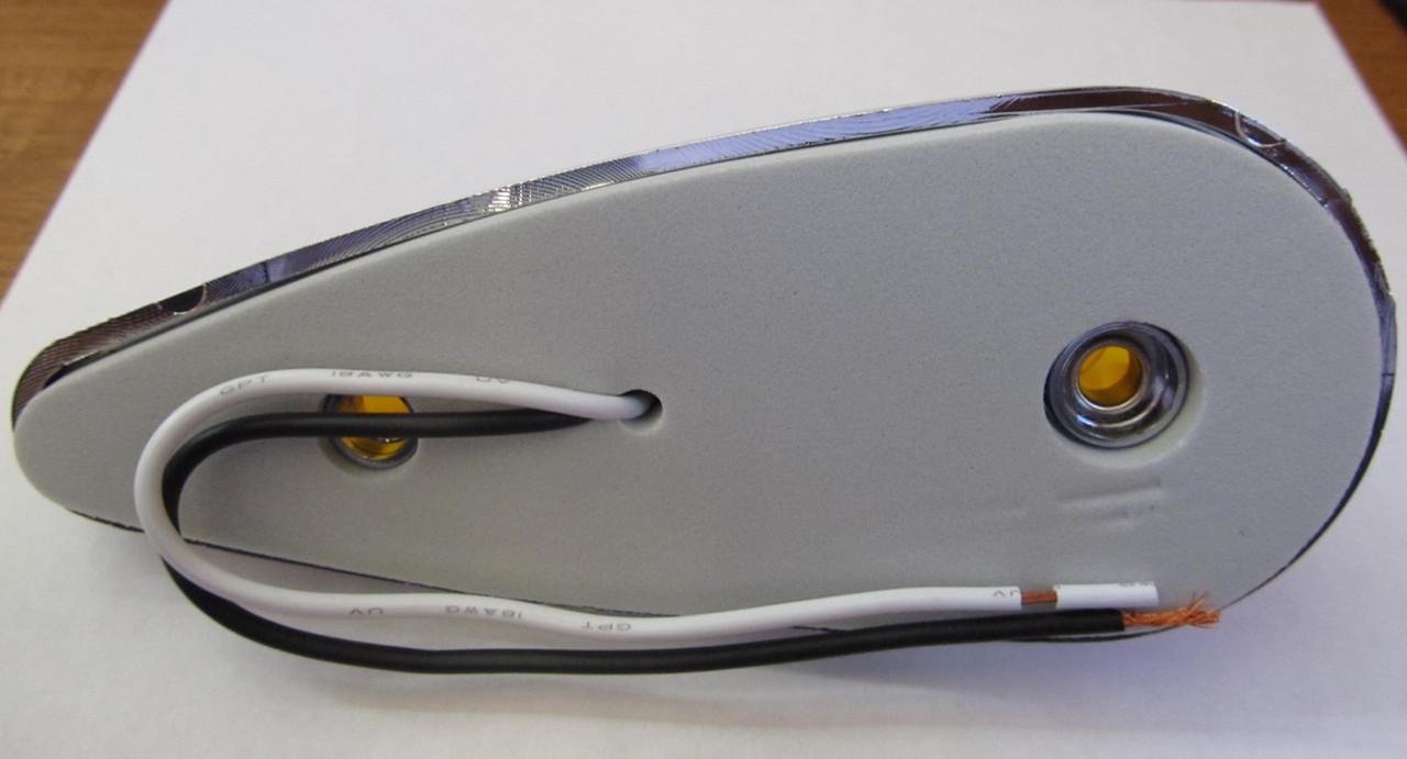 Teardrop Style Incandescent Cab Marker Light - Amber (CLT110)
