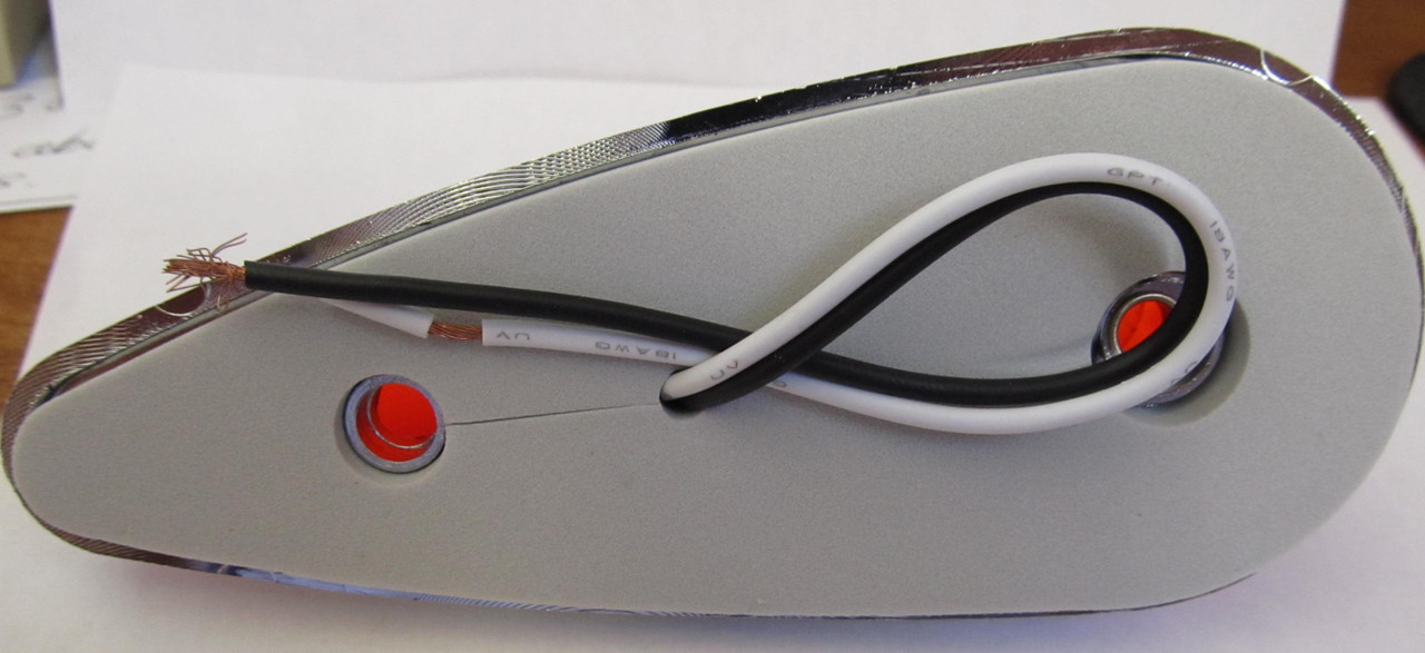 Teardrop Style Incandescent Cab Marker Light - Red (CLT111)