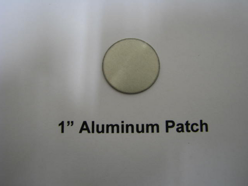"Aluminum Round Patch - 1"" - (CBP001) OVERHEAD FRONT VIEW"