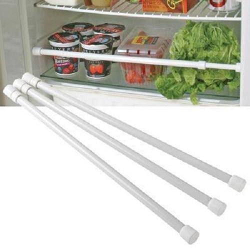 RV Refrigerator Bars in White (3-Pack) -(03-1011)  BARS SHOWN, EXAMPLE OF INSTALLATION IN FRIDGE