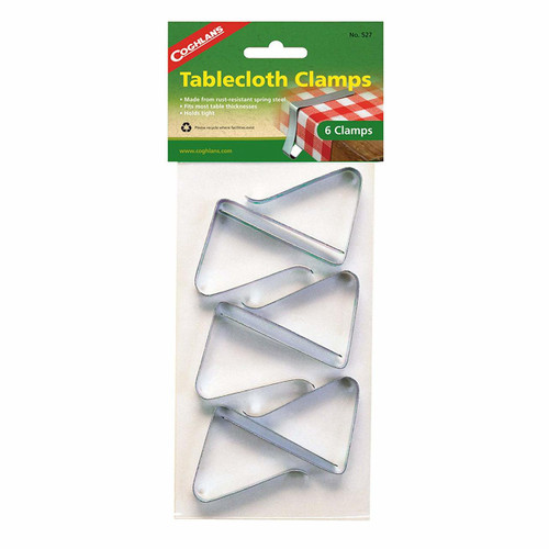 6pk TABLECLOTH CLAMPS - (03-1013) SHOWN IN PACKAGING
