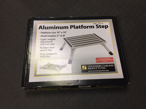 ALUMINUM PLATFORM STEP (04-1004) PACKAGING FRONT