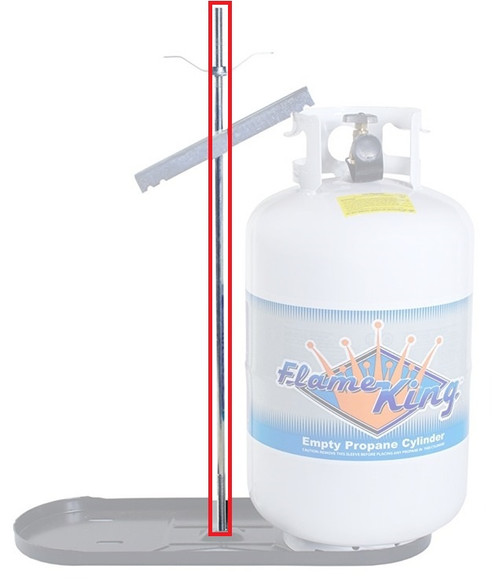 20 lb. (5gal) DUAL TANK ROD (06-1004) ROD ONLY.    **TANK, BASE, AND HARDWARE NOT INCLUDED. PICTURED FOR DEMONSTRATION PURPOSES ONLY.***