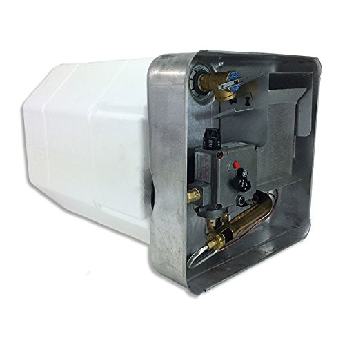 SUBURBAN WATER HEATER-6 GAL. GAS/PILOT (09-1004) ANGLED LEFT SIDE VIEW