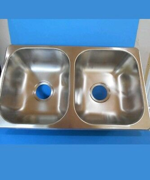"DOUBLE SINK, 25"" X 15"" - STAINLESS STEEL (10-1024)"