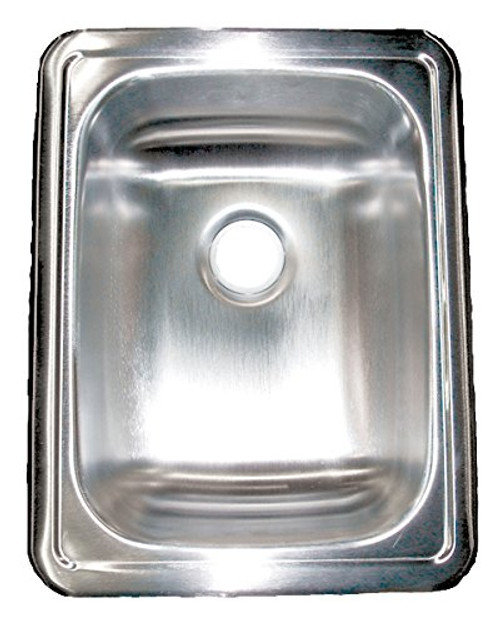 "SINGLE SINK 17"" x 13"" STAINLESS STEEL (10-1025)"