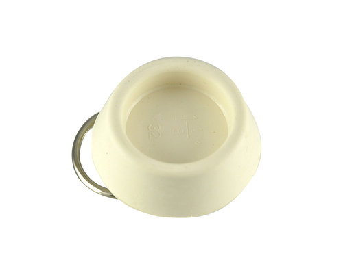 "SINK STOPPER 1-1/8"" (WHITE) (10-1030) BOTTOM VIEW"