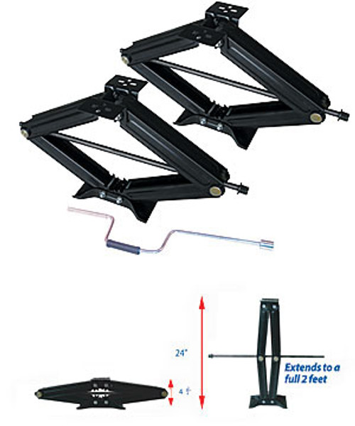"24"" SCISSOR JACKS (1 PAIR) (15-1014)"
