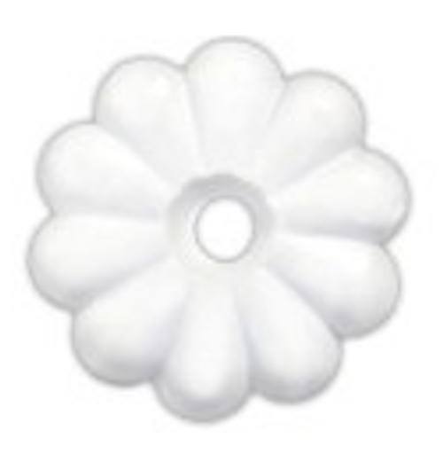 PLASTIC ROSETTES - WHITE (20-1108)