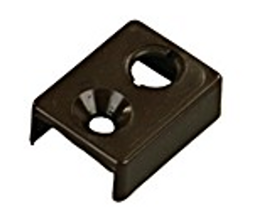 CURTAIN TRACK END STOP TYPE E - BROWN (20-1132)