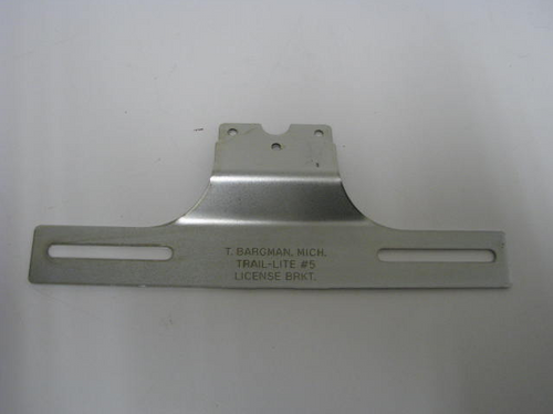 Bargman Trail-Lite #5 License Bracket (18-2018) FRONT VIEW