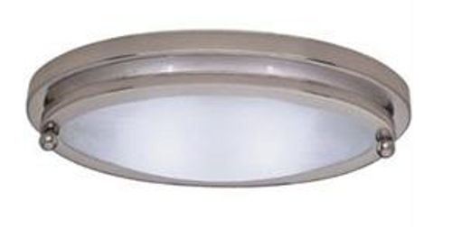 LOW PROFILE OVAL LIGHT - SATIN NICKEL (18-2007)