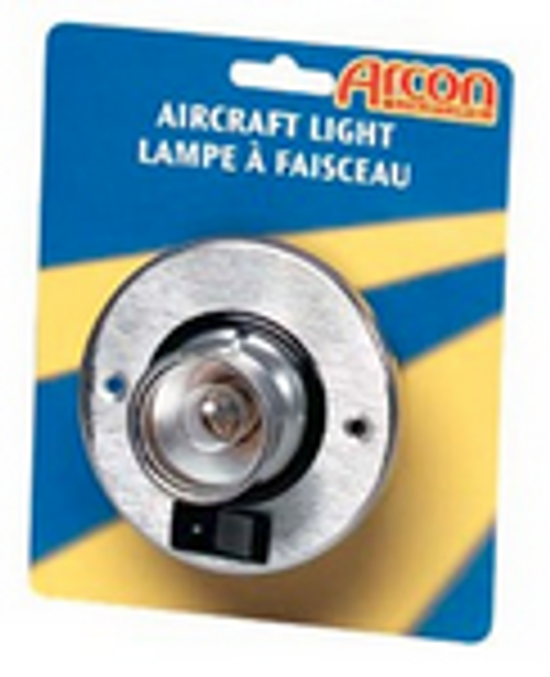 AIRCRAFT-STYLE ROUND SINGLE LIGHT - BRASS (18-2009)
