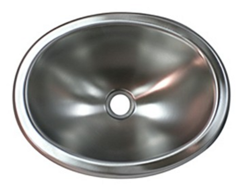 """OVAL SINK, 10"""" X 13"""" - STAINLESS STEEL (10-3003)"""