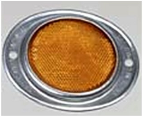 OVAL REFLECTOR - AMBER (18-3026)
