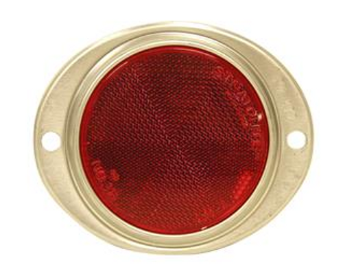 OVAL REFLECTOR - RED (18-3027)