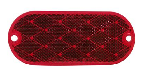 OBLONG REFLECTOR - RED (18-3032)