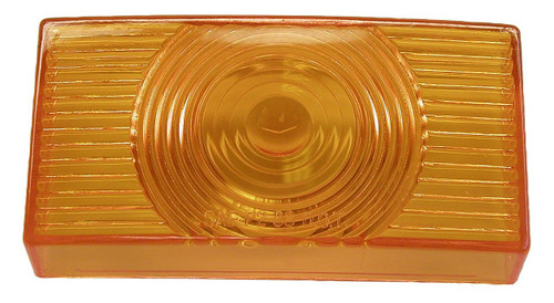 PETERSON SIDE MARKER LIGHT REPLACEMENT LENS - AMBER (18-3036) FRONT VIEW